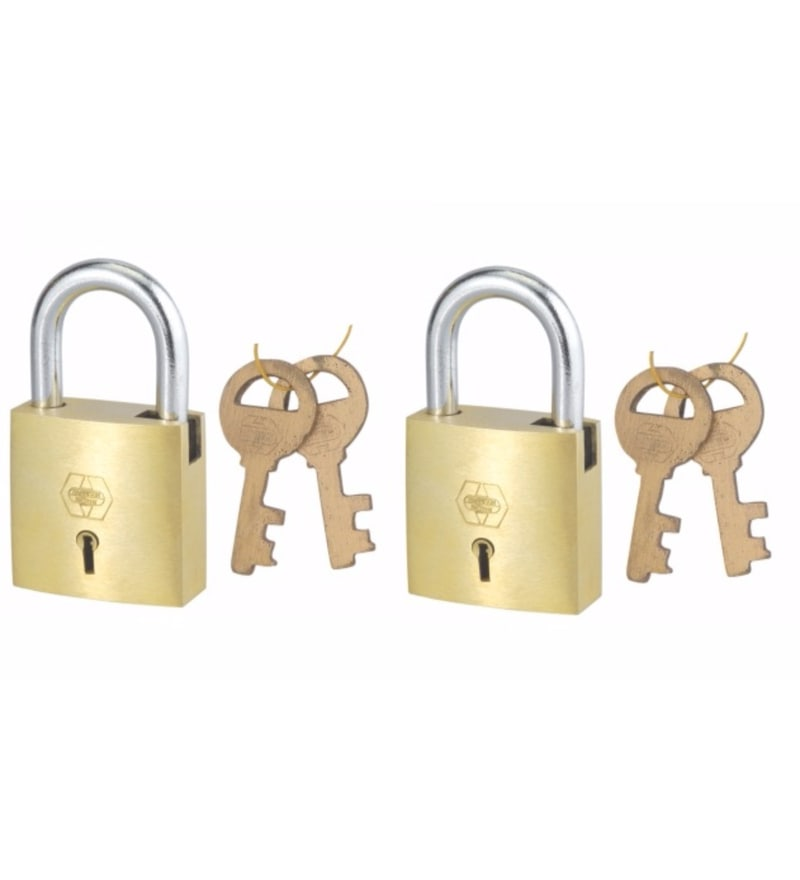 Harrison Square A-1/7 Brass Padlock - Set of 2