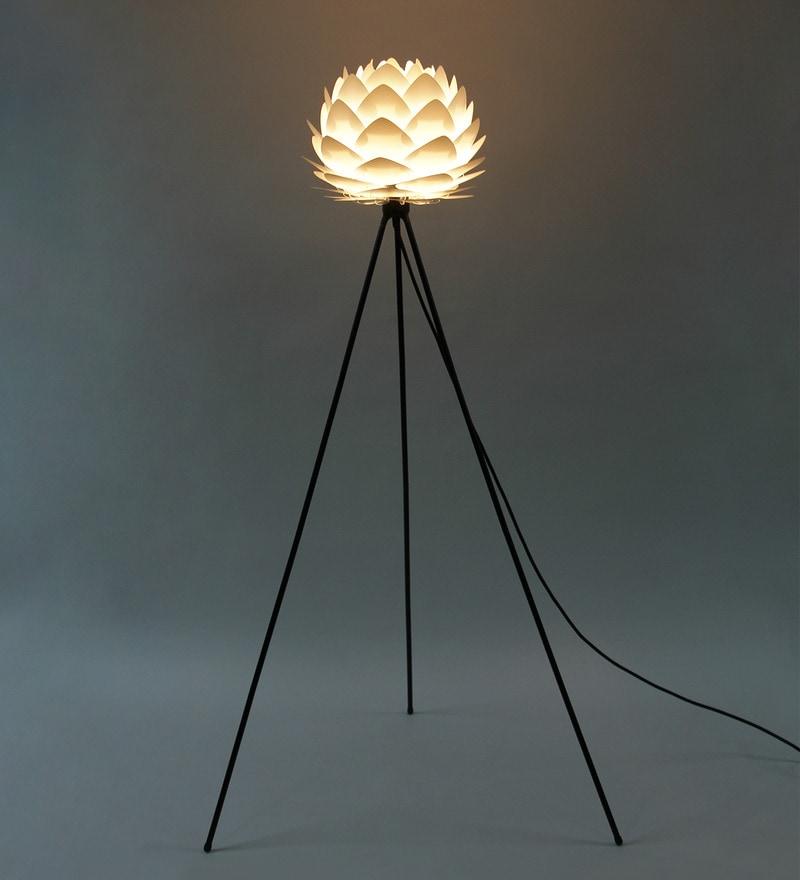 Buy ekko gold polypropylene cocoon led tripod floor lamp online cocoon white aluminum floor lamp by ekko mozeypictures Image collections