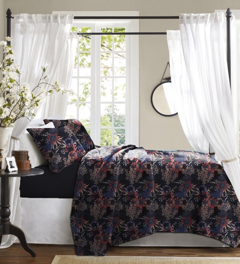 Black Cotton Bed in a Bag Bedding Set by Haus and Sie
