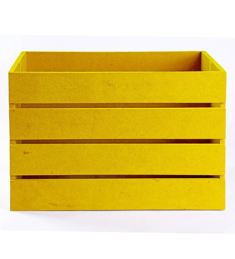 Haus and Sie MDF Yellow Crate