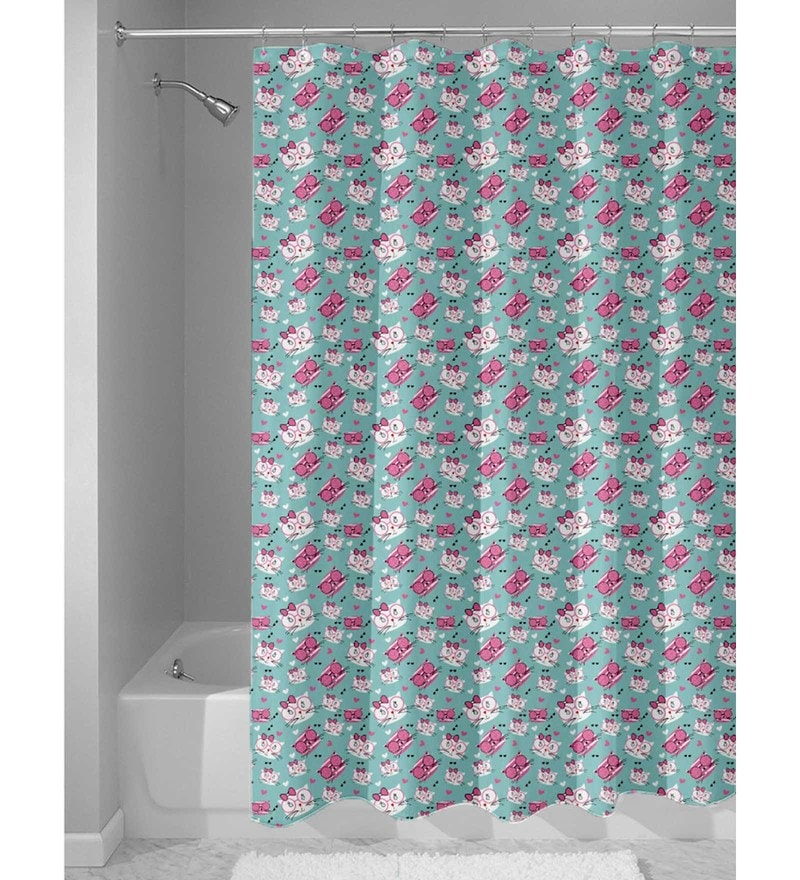 Mint Nylon 84 x 48 Inch Shower Curtain by Haus and Sie