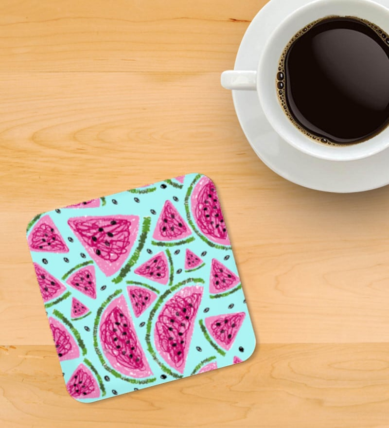Haus and Sie Printed Multicolour MDF Coasters - Set of 4