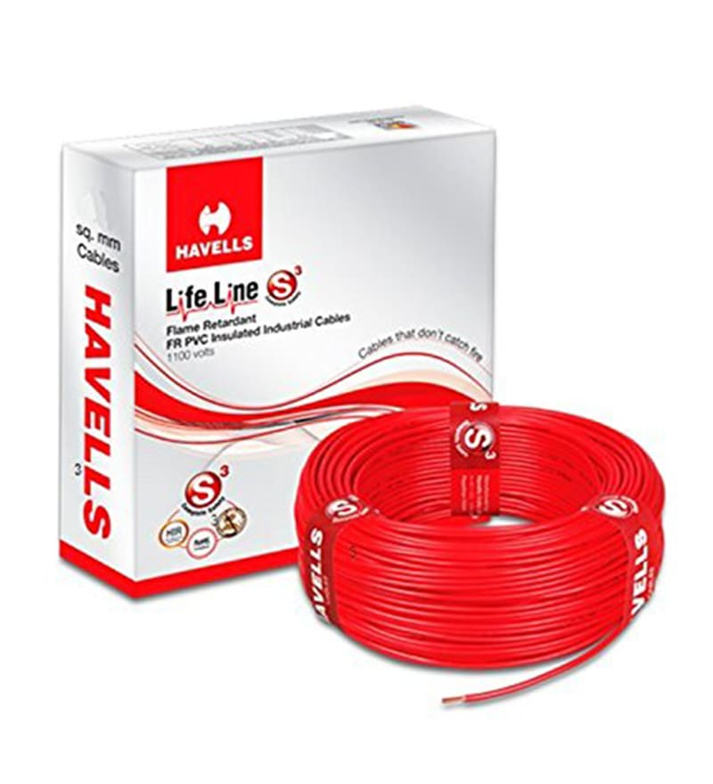 Havells Red 90 Metres Lifeline Cable (Model: WHFFDNRA11X0)
