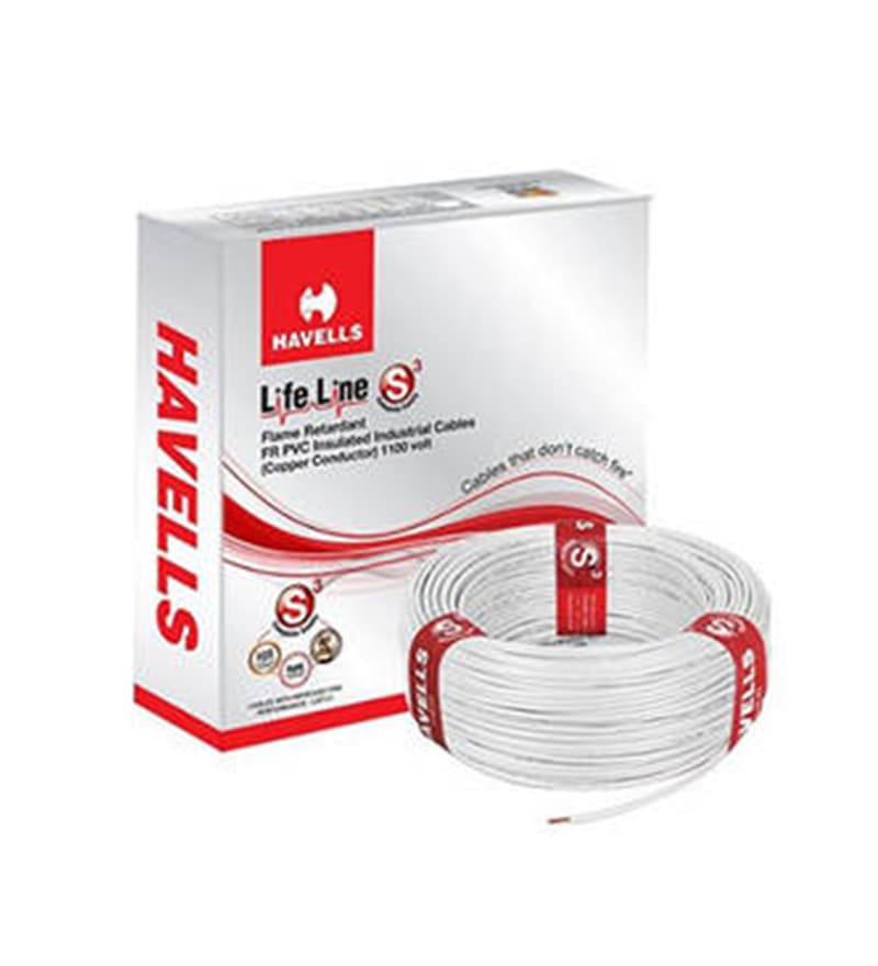 Havells White 90 Metres Lifeline Cable (Model: WHFFDNWA11X5)
