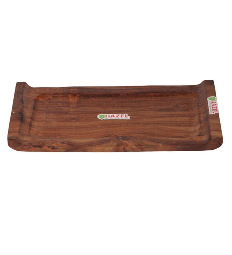 Hazel Handicraft Brown Wood Tray