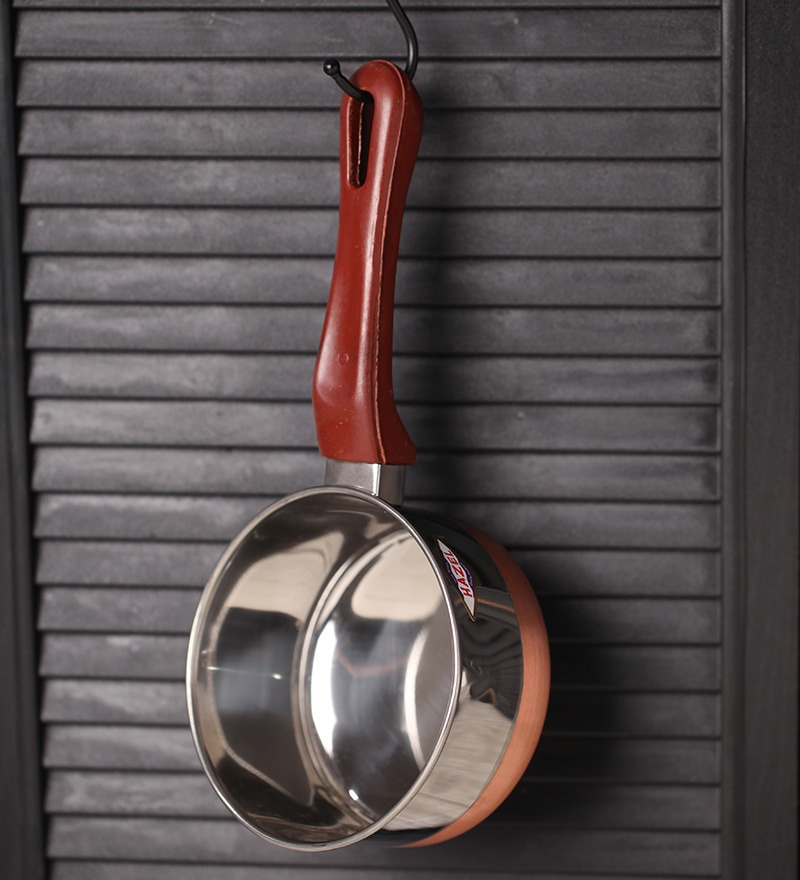 Hazel Stainless Steel Copper Bottom Sauce Pan