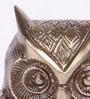 Handecor Brown Brass Vintage Owl Showpiece