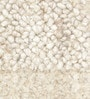 Beige Wool 80 x 56 Inch Indian Hand Woven Carved Carpet by HDP