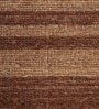 HDP Brown & Beige Wool 80 x 56 Inch Hand Woven Flat Weave Area Rug
