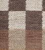 HDP Brown & Beige Wool 80 x 56 Inch Hand Woven Flat Weave Area Rug