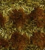 Green Polyester 48 x 32 Inch Hand Made Tufted Shaggy Carpet by HDP