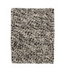 Grey & Black Wool 32 x 24 Inch Hand Woven Pebble Bedside Carpet by HDP