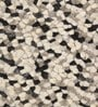 Grey & Black Wool 66 x 28 Inch Hand Woven Pebble Carpet by HDP