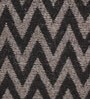 Grey & Black Wool 80 x 56 Inch Hand Woven Flat Weave Area Rug by HDP