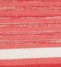 Orange & White Cotton 92 x 64 Inch Hand Woven Flat Weave Area Rug by HDP