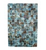Tan & Turquoise Leather 72 x 48 Inch Hand Made Carpet by HDP
