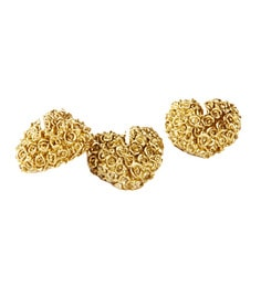 Market Finds Gold Heart Candle - Set Of Three