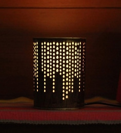 Height Of Designs Gold Metal Rain Drop Night Lamp
