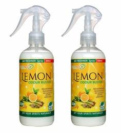 Herbo Pest Lemon Odour Buster Air Freshener 300Ml Spray Bottle - Set Of 2
