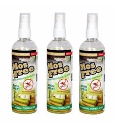 Herbo Pest Mosfree 200Ml Herbal Mosquito Repellent Room Spray Bottle - Set Of 3