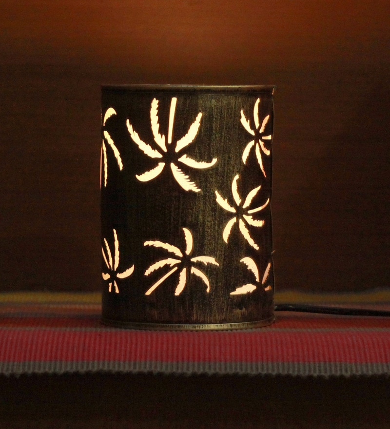 Gold Iron Coconut Tree Table lamp by Height of Designs