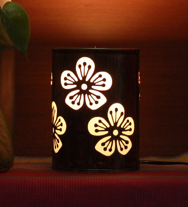 Gold Iron Flower Table lamp by Aasras