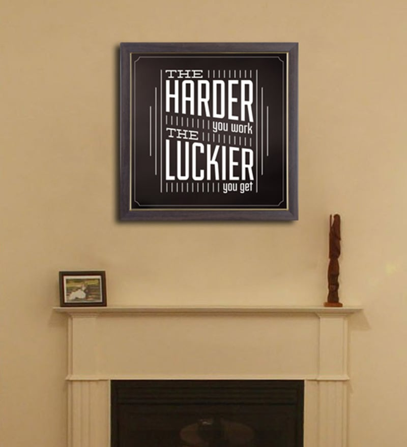 PVC 12 x 12 Inch Hard Luck Framed Wall Painting by Height of Designs