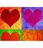 Hashtag Decor Hearts Aluminum 17.75 x 17.75 Inch Framed Art Panel
