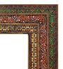 Multicolour Metal & MDF Ethnic Design Decorative Mirror by Heera Hastkala