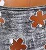 Aasra Multicolour Iron Floral Tea Light Votive - Set of 3