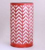 Orange Iron Zig Zag Table Lamp by Height of Designs
