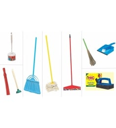 HIC Plastic Unique Complete Home Cleaning Package - Set Of 10