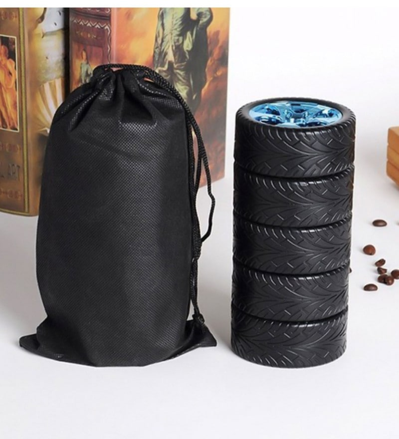 Hitplay Black Plastic & Stainless Steel 400 ML Tyre Mug