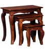 Kent Set of Tables in Provincial Teak Finish by Amberville