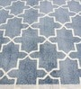 Blue Bamboo Viscose 60 x 96 Inch Area Rug by HNS Homes