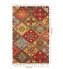 HNS Homes Multicolour Wool 60 x 96 Inch Geometric Pattern Area Rug