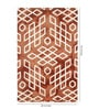 Hns Homes Rust Wool 60 x 96 Inch Area Rug