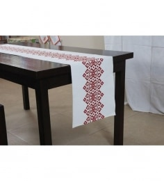 House This Mexican Red Cotton Table Runner