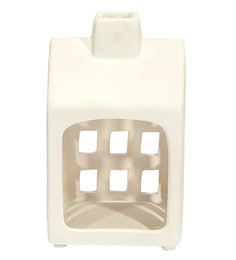 Home Artisan White Ceramic House Of Light Candle Holder
