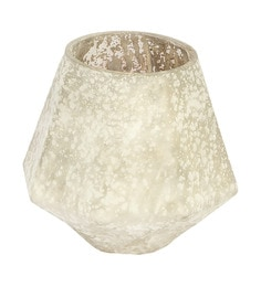Home Artisan White Glass Fayette Candle Holder