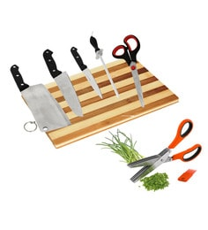 Home Creation Knives With Chopping Board - Set Of 7