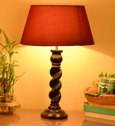 Buy contemporary table lamps online in india best prices pepperfry red cotton table lamp aloadofball Choice Image