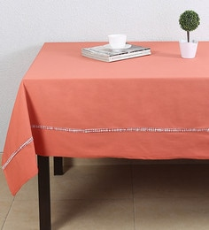 House This Brick Red Red Cotton Table Cover - 1649364