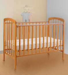 Howard Solid Wood Baby Cot In Light Brown Finish