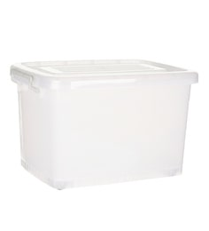 Howards Storage World Easi Store Plastic 50 L Storage Box With Wheels