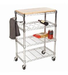 Howards Storage World Easy-Build Chrome Kitchen Trolley