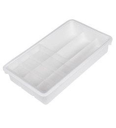 Howards Storage World Small Plastic Office & Kitchen Drawer Organizer Tray