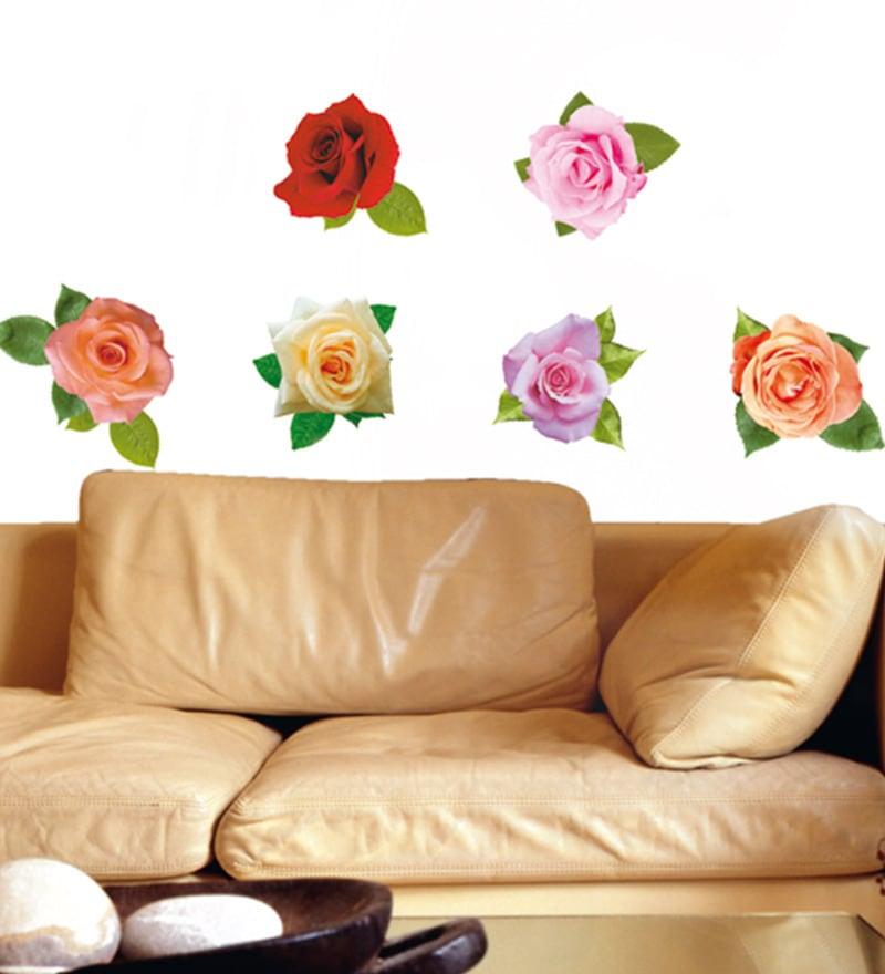 Home Decor Line Vinyl Dcor Easy Roses Wall Sticker