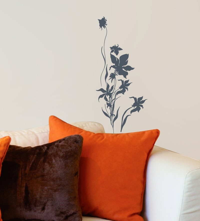 Vinyl Folwer Silhoutte Wall Sticker by Home Decor Line
