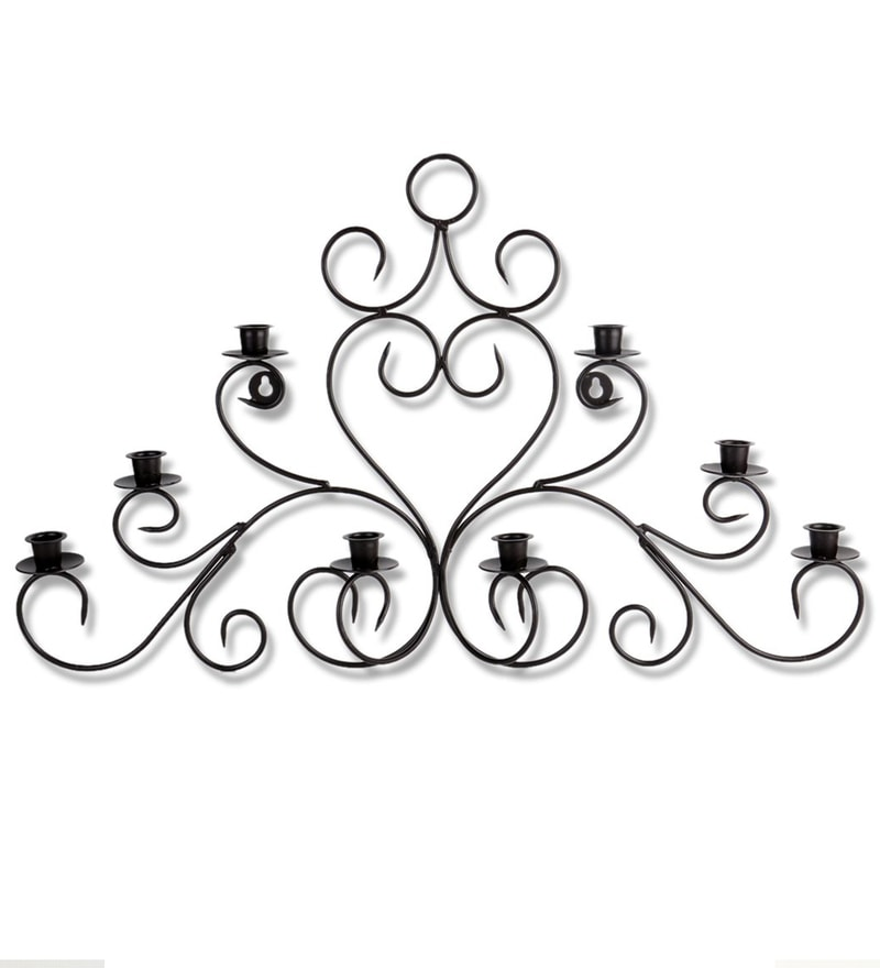 Black Iron Wall Sconce by Home Sparkle